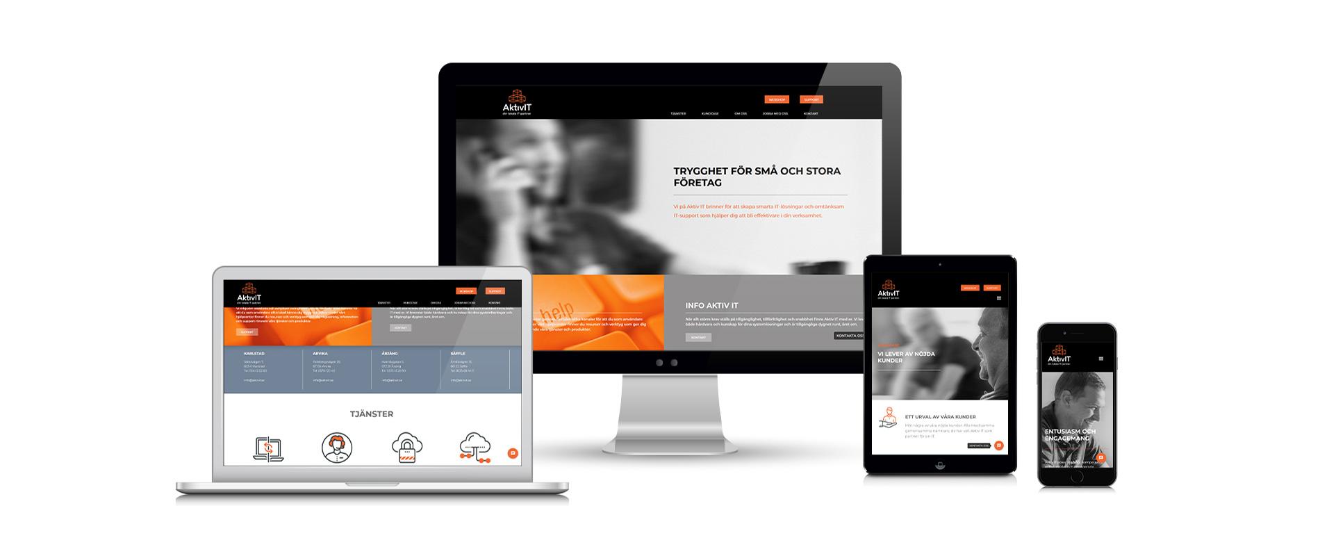 WebbdesignVi designar er webbplats och hjälper dig med marknadsföring online. Läs mer om vad vi kan erbjuda i Webb & digitalt. Se mer exempel i vår Portfolio